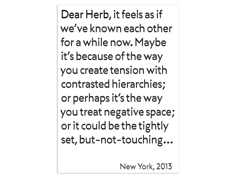 28/31 – Dear Herb, with Maad